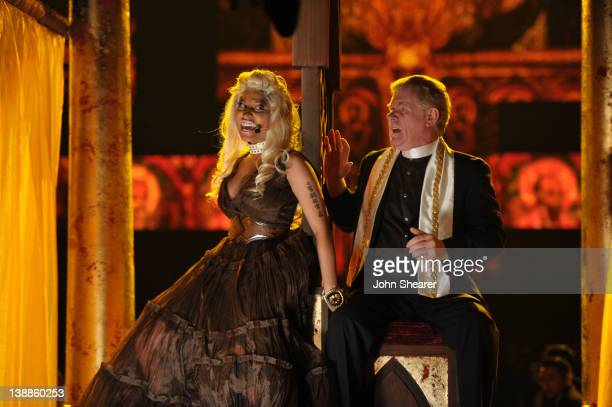 Singer Nicki Minaj performs onstage at The 54th Annual GRAMMY Awards at Staples Center on February 12, 2012 in Los Angeles, California.