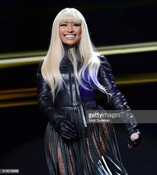 Singer Nicki Minaj performs onstage at The Forum on February 28 2016 in Inglewood California