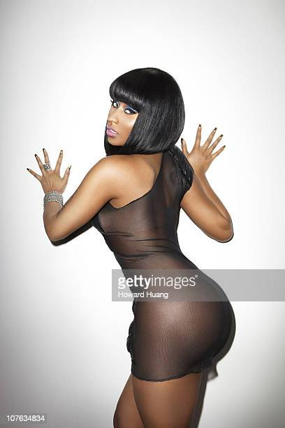 Singer Nicki Minaj poses at a portrait session for Black Men Magazine on April 14 2010 in New York City New York
