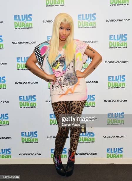Singer Nicki Minaj visits Elvis Duran The Z100 Morning Show at Z100 Studio on April 4 2012 in New York City