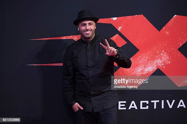 Singer Nicky Jam attends the world premiere of the movie 'xXx Return of Xander Cage' at the National Auditorium in Mexico City Mexico on January 05...