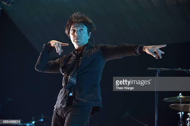 Singer Nicola Sirkis of Indochine performs onstage during TIDAL X 1020 Amplified by HTC at Barclays Center of Brooklyn on October 20 2015 in New York...