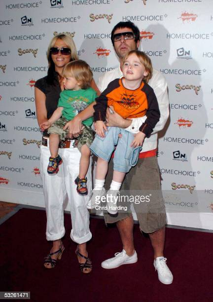 Singer Nicole Appleton boyfriend musician Liam Gallagher of Oasis their son Gene and possibly Appleton's nephew Ace Howlett attend the HomeChoice...