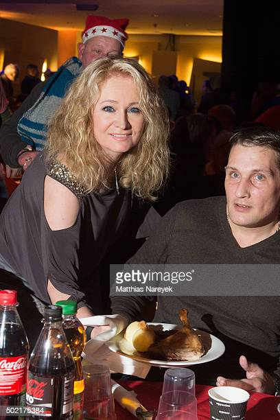 Singer Nicole attends the Frank Zander charity dinner for homeless at the Estrel hotel on December 21 2015 in Berlin Germany