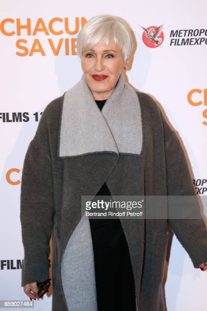 Singer Nicole Croisille attends the 'Chacun sa vie' Paris Premiere at Cinema UGC Normandie on March 13 2017 in Paris France