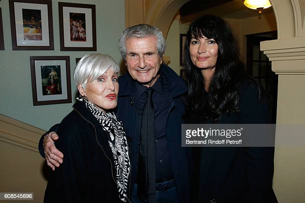 Singer Nicole Croisille Director Claude Lelouch and his companion Valerie Perrin attend the 'Tout ce que vous voulez' Theater Play at Theatre Edouard...