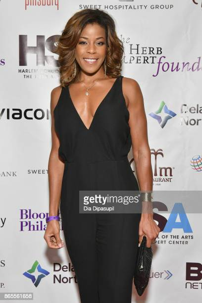Singer Nicole Henry attends HSA Masquerade Ball on October 23 2017 at The Plaza Hotel in New York City