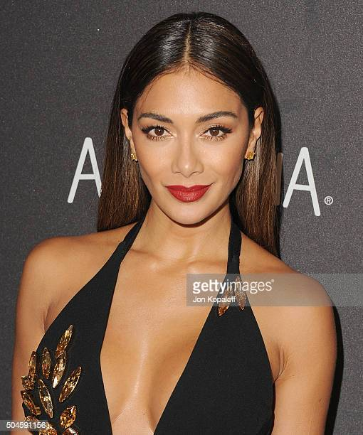 Singer Nicole Scherzinger arrives at the 2016 InStyle And Warner Bros 73rd Annual Golden Globe Awards PostParty at The Beverly Hilton Hotel on...