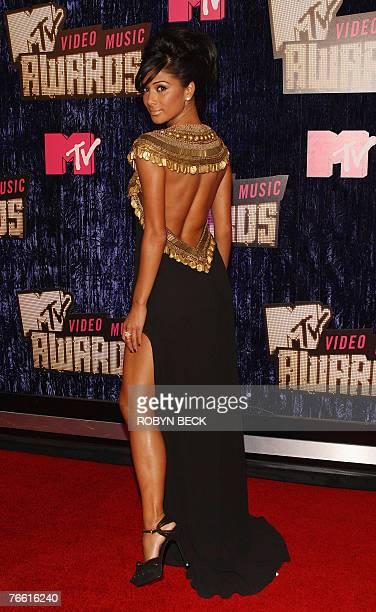 Singer Nicole Scherzinger arrives for the 2007 MTV Video Music Awards at the Palms Casino 09 September 2007 in Las Vegas, Nevada. AFP PHOTO/Robyn BECK