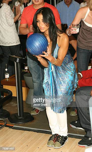 Singer Nicole Scherzinger at the 1st Annual Celebrity Bowling Night to Benefit the Matt Leinart Foundation held at Lucky Strike on July 12 2007 in...
