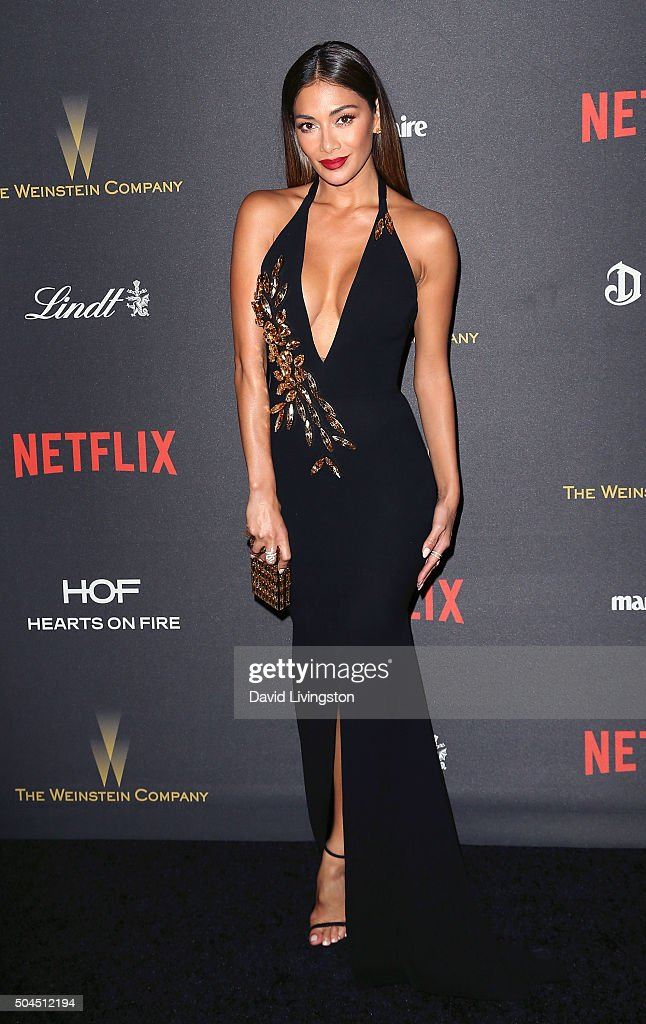 Singer Nicole Scherzinger attends the 2016 Weinstein Company and Netflix Golden Globes after party on January 10, 2016 in Los Angeles, California.
