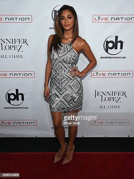 Singer Nicole Scherzinger attends the launch of Jennifer Lopez's residency 'JENNIFER LOPEZ ALL I HAVE' at Planet Hollywood Resort Casino on January...