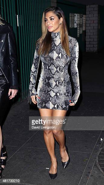 Singer Nicole Scherzinger attends the Michael Costello and Style PR Capsule Collection launch party on July 23 2015 in Los Angeles California