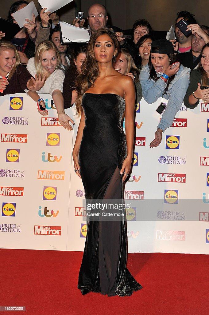 Singer Nicole Scherzinger attends the Pride of Britain awards at Grosvenor House on October 7, 2013 in London, England.