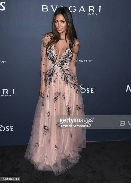 Singer Nicole Scherzinger attends The Weinstein Company's PreOscar Dinner in partnership with Bvlgari and Grey Goose at Montage Beverly Hills on...