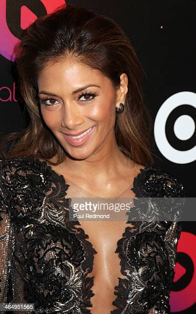Singer Nicole Scherzinger of The Pussycat Dolls at Beats by Dre Music Launch GRAMMY Party at Belasco Theatre on January 24 2014 in Los Angeles...