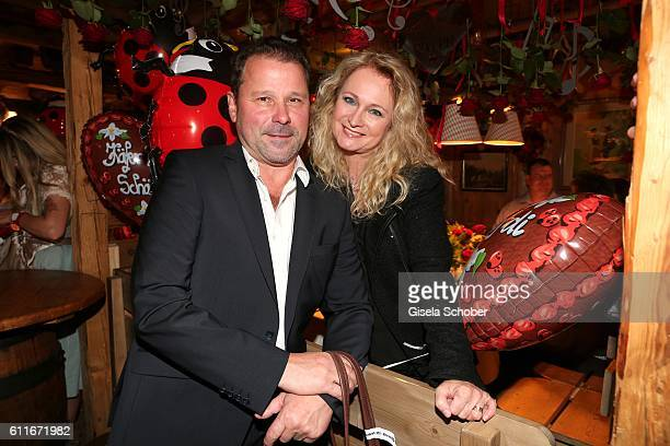 Singer Nicole Seibert and her husband Winfried Seibert attend the Ralph Siegel birthday party during the Oktoberfest at Theresienwiese on September...