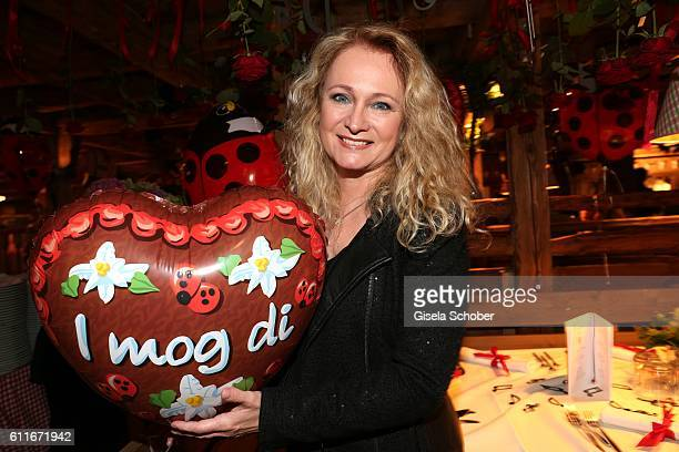 Singer Nicole Seibert attends the Ralph Siegel birthday party during the Oktoberfest at Theresienwiese on September 30 2016 in Munich Germany