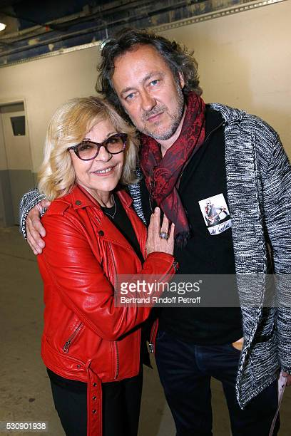 Singer Nicoletta and her husband Jean Christophe Molinier attend Michel Polnareff performs at AccorHotels Arena Bercy Day 4 on May 11 2016 in Paris