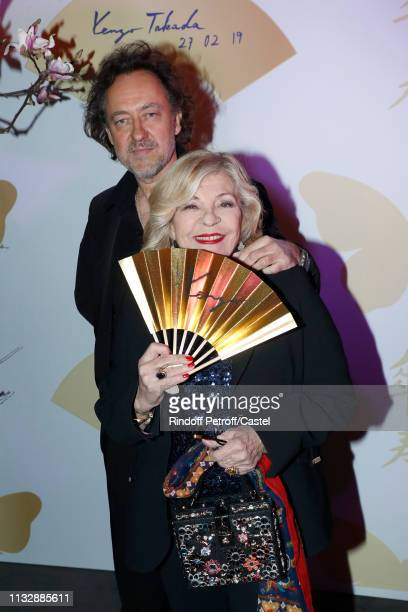 Singer Nicoletta and her husband JeanChristophe Molinier attend the 80th Kenzo Takada Birthday Party at Pavillon Ledoyen on February 28 2019 in Paris...