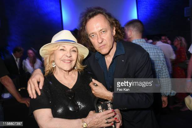 Singer Nicoletta and Jean Christophe Molinier attend Petanque Gastronomique 2019 hosted by Daniel Lauclair at Paris Yacht Marina on June 27 2019 in...