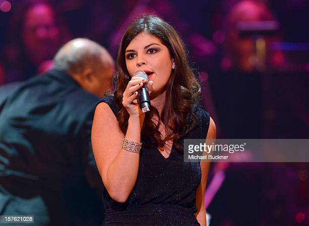 Singer Nikki Yanofsky performs onstage at a celebration of Carole King and her music to benefit Paul Newman's The Painted Turtle Camp at the Dolby...
