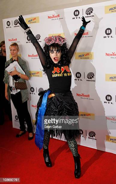 Singer Nina Hagen attends The Dome 55 on August 27 2010 in Hannover Germany