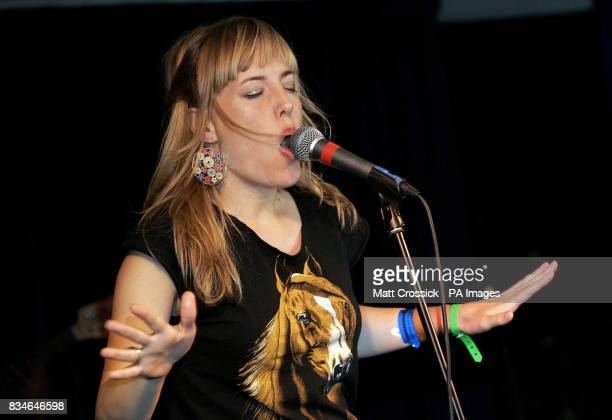 Singer Nina Miranda from Zeep on stage at Guanabara at the launch of the London's free Bossa Nova Festival which takes place Sunday 6th July on the...