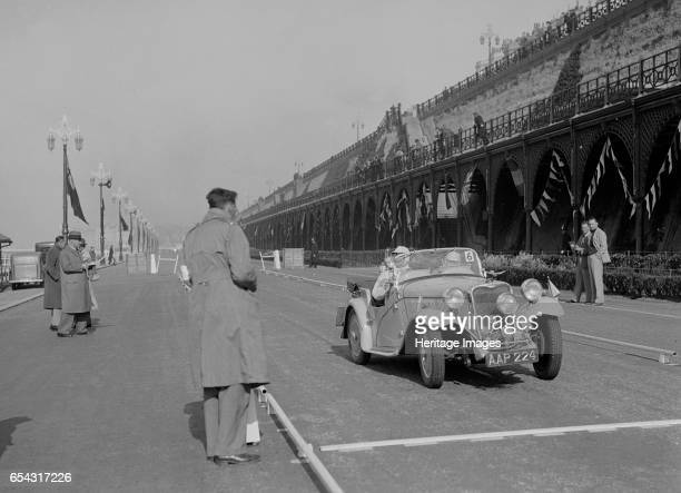 Singer Nine sports of CE Cole at the RAC Rally Madeira Drive Brighton 1939 Artist Bill Brunell Singer Nine Sports 972 cc Vehicle Reg No AAP224 Event...
