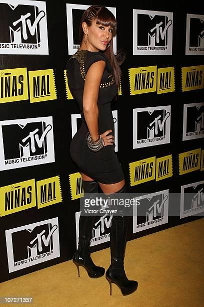 Singer Ninel Conde attends the MTV Niñas Mal soap opera party at Ragga Antara Polanco on December 1 2010 in Mexico City Mexico