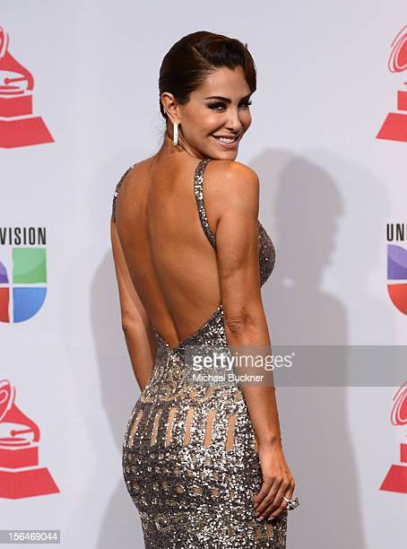 Singer Ninel Conde poses in the press room during the 13th annual Latin GRAMMY Awards held at the Mandalay Bay Events Center on November 15 2012 in...