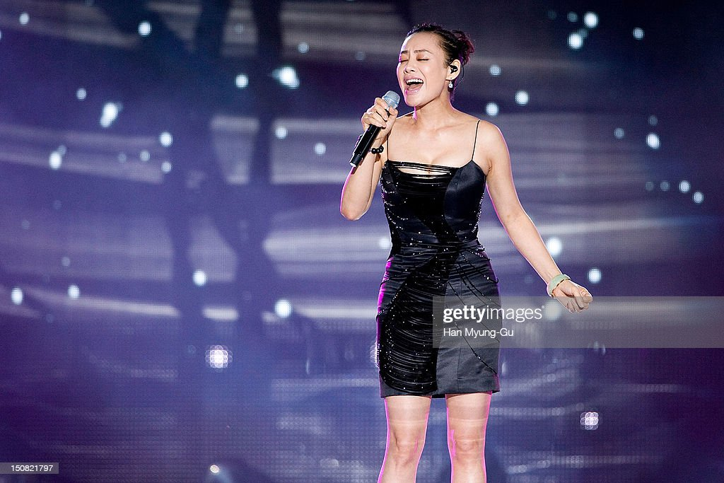 Singer Ning Jing from China performs onstage during the KBS Korea-China Music Festival on August 25, 2012 in Yeosu, South Korea.