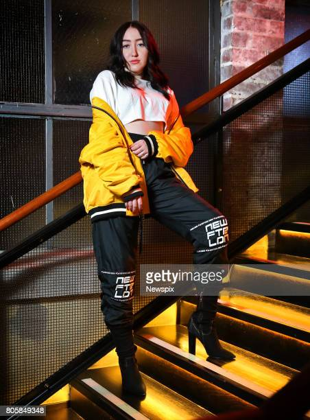 SYDNEY NSW Singer Noah Cyrus poses during a photo shoot at the QT Hotel in Sydney New South Wales
