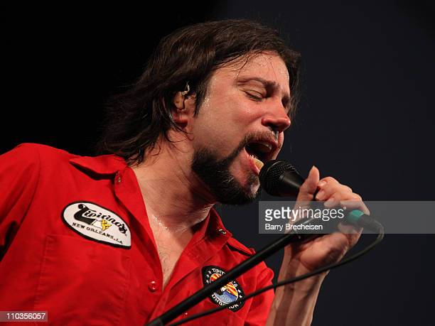Singer Noah Hunt of the Kenny Wayne Shepherd Band performs during day 6 of the 41st annual New Orleans Jazz Heritage Festival at the Fair Grounds...