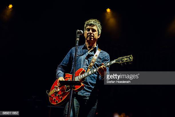 Singer Noel Gallagher of Noel Gallagher's High Flying Birds performs live on stage during day 2 of Pure Crafted Festival on August 13 2016 in Berlin...