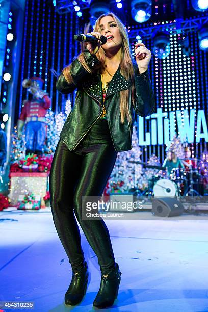 Singer Noelle Bean performs at The Salvation Army's 4th annual Rock The Red Kettle concert at 5 Towers Outdoor Concert Arena on December 7 2013 in...
