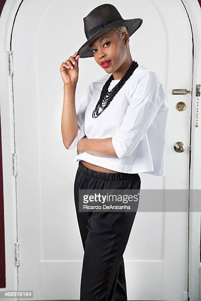 LOS ANGELES CA MARCH 09 2015 Singer Noelle Scaggs from Fitz and the Tantrums is photographed for Los Angeles Times on March 9 2015 in Los Angeles...