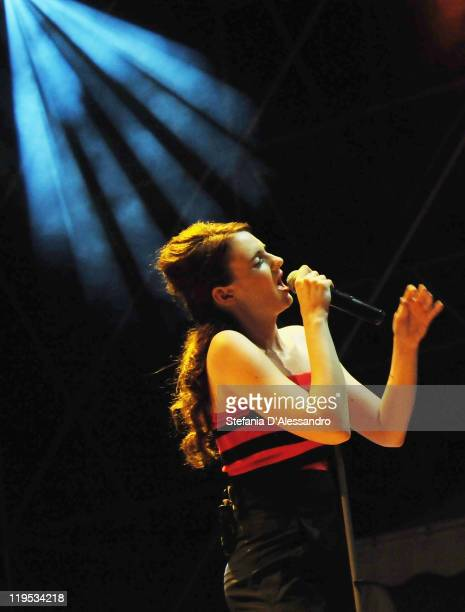Singer Noemie Wolfs of Hooverphonic performs live during 2011 Giffoni Experience on July 21 2011 in Giffoni Valle Piana Italy