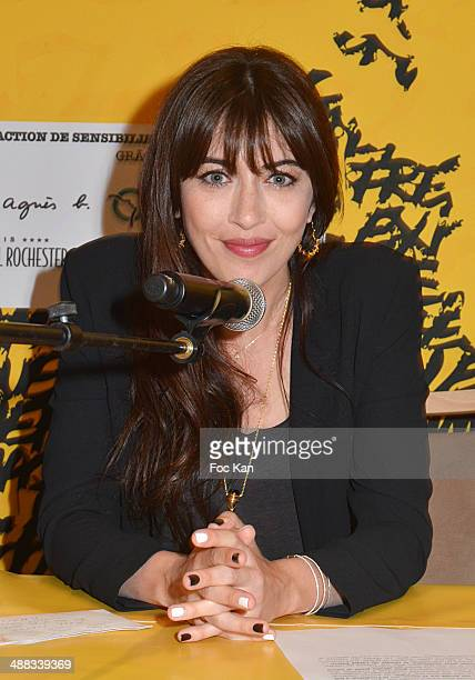 Singer Nolwenn Leroy attends the Foundation Abbe Pierre in benefit of homeless Press Conference at Hotel Rochester on May 5 2014 in Paris France