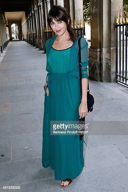 Singer Nolwenn Leroy attends the 'Qeelin' high Jewellery Exhibition opening Cocktail 'Mogoaku in Paris' at Jardin du Palais Royal on June 30 2014 in...