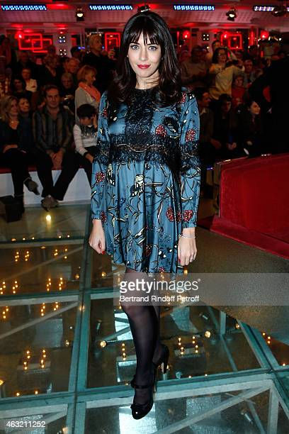 Singer Nolwenn Leroy presents her Acoustic Tour during the 'Vivement Dimanche' French TV Show Held at Pavillon Gabriel on February 11 2015 in Paris...