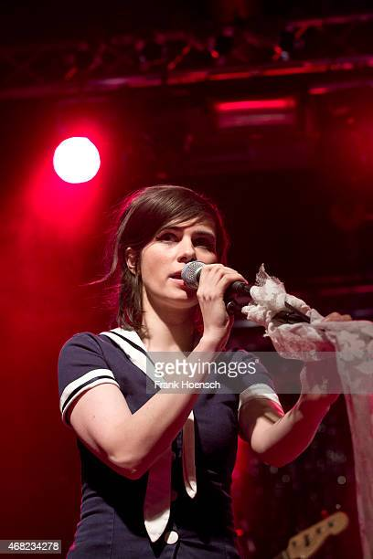 Singer Nora Tschirner of Prag performs live during a concert at the CClub on March 30 2015 in Berlin Germany