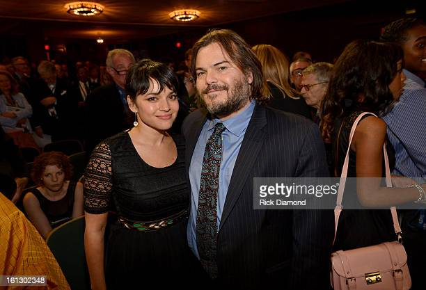 Singer Norah Jones and actor Jack Black attend the Special Merit Awards Ceremony during the 55th Annual GRAMMY Awards at the Wilshire Ebell Theater...