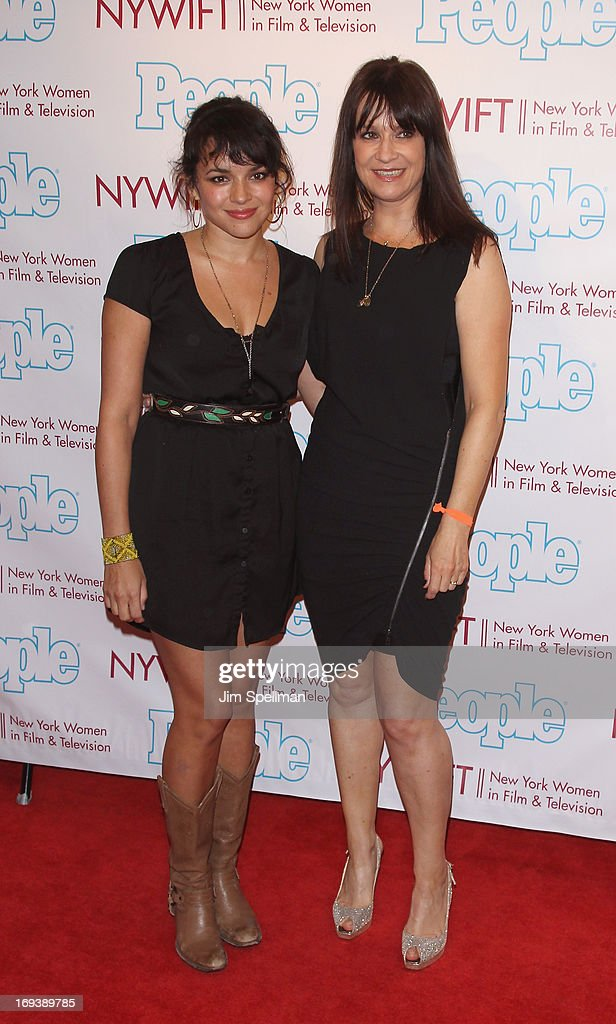 Singer Norah Jones and Mandy Lyons attends 2013 NYWIFT Designing Women Awards at The McGraw-Hill Building on May 23, 2013 in New York City.