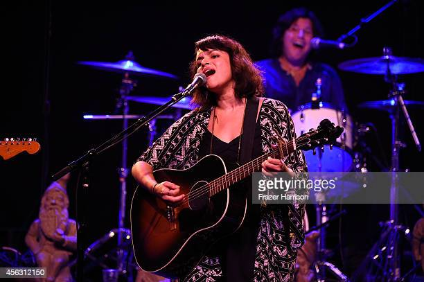 Singer Norah Jones performs at theThe Best Fest Presents GEORGE FEST An Evening To Celebrate The Music Of George Harrison at The Fonda Theatre on...