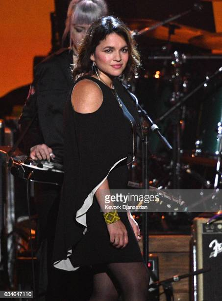 Singer Norah Jones performs onstage during MusiCares Person of the Year honoring Tom Petty at the Los Angeles Convention Center on February 10 2017...