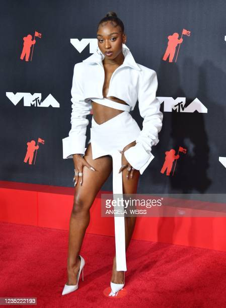 Singer Normani arrives for the 2021 MTV Video Music Awards at Barclays Center in Brooklyn, New York, September 12, 2021.