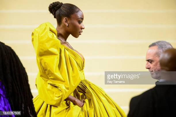 Singer Normani Hamilton attends the 2021 Met Gala Celebrating In America: A Lexicon Of Fashion at the Metropolitan Museum Of Art on September 13,...
