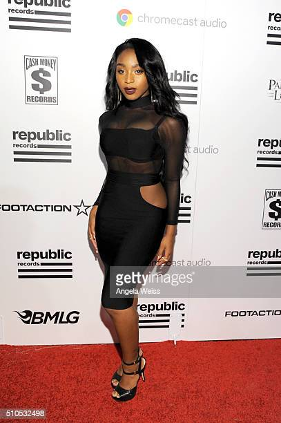 Singer Normani Kordei attends the Republic Records Grammy Celebration presented by Chromecast Audio at Hyde Sunset Kitchen Cocktail on February 15...