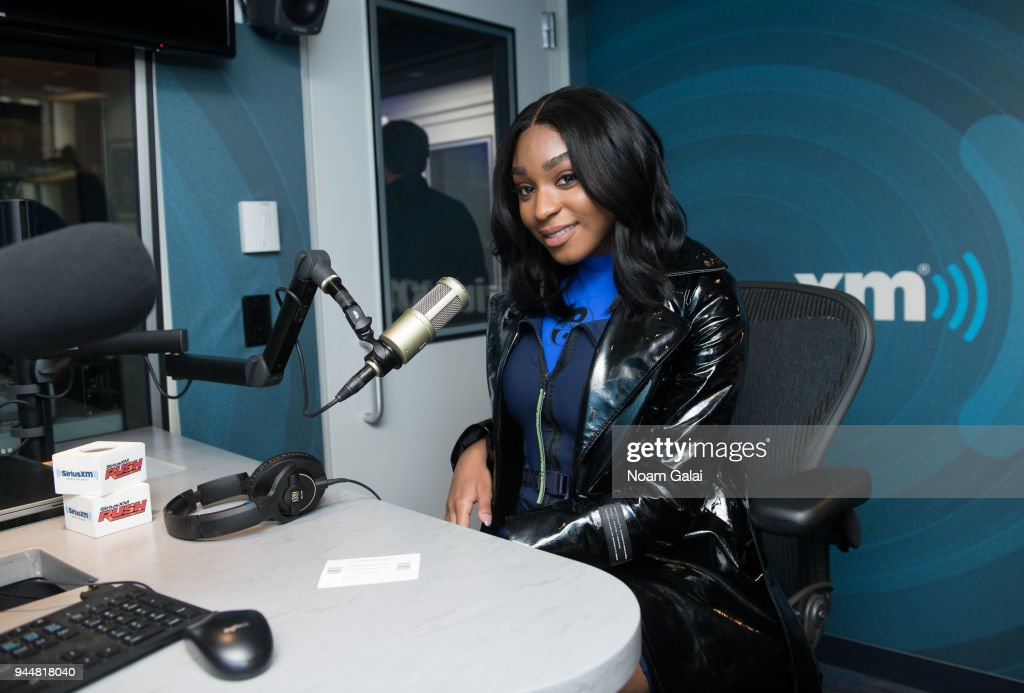 Singer Normani Kordei visits 'The Heat' at the SiriusXM Studios on April 11, 2018 in New York City.